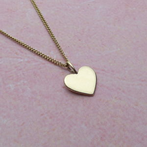 9ct Yellow Gold Heart Pendant - necklaces & pendants