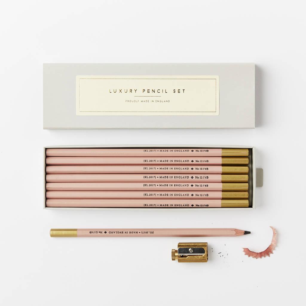 Pale Pink 6 B Pencil Set