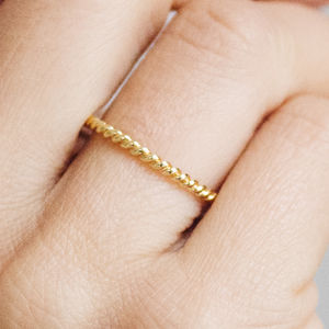 Braided Ethical Fairtrade Gold Wedding Ring - contemporary jewellery