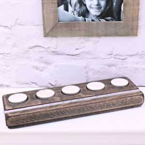 Personalised Wooden Tealight Holder - home accessories