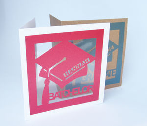 Personalised Graduate Die Cut Card - graduation cards