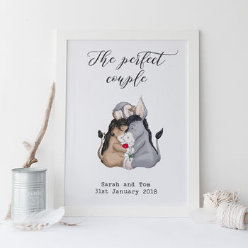 Personalised Perfect Couple Wedding Print