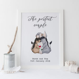 Personalised 'The Perfect Couple' Wedding Print