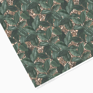 Botanical Leaf And Animal Print Wrapping Paper