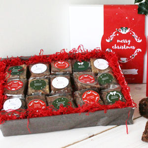 15 Christmas Gluten Free Brownies Gift Box - gluten free food gifts