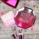 Girl Gang Pink Party Plates