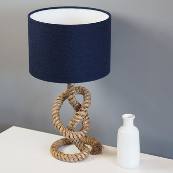 Navy Blue Harris Tweed Lampshade