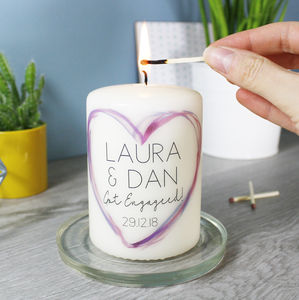 Personalised Engagement Candle - dining room