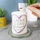 Personalised Engagement Candle