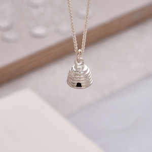 Beehive Solid Silver Necklace