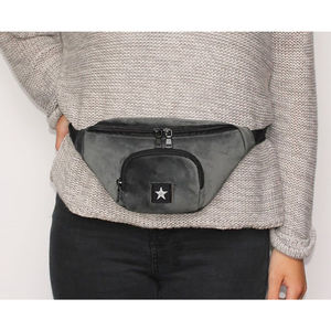 Black Star Bum Bag - cross-body bags