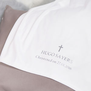 Personalised Cotton Blanket For Christening - christening wear