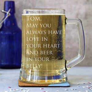 Personalised One Pint Tankard