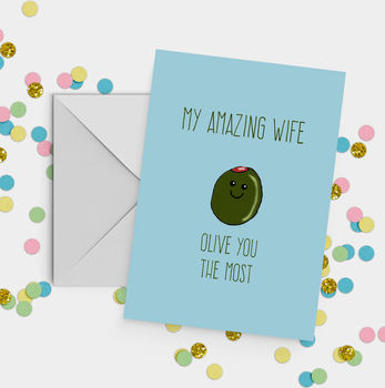 'Olive You The Most' A5 Valentine's Day Card