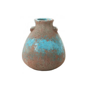 Antique Aqua Deco Vase - home accessories