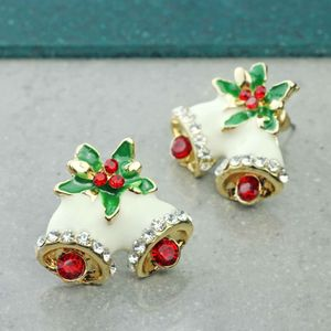 Christmas Bell Stud Earrings - children's jewellery