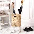 Dipped Hyacinth Umbrella Stand
