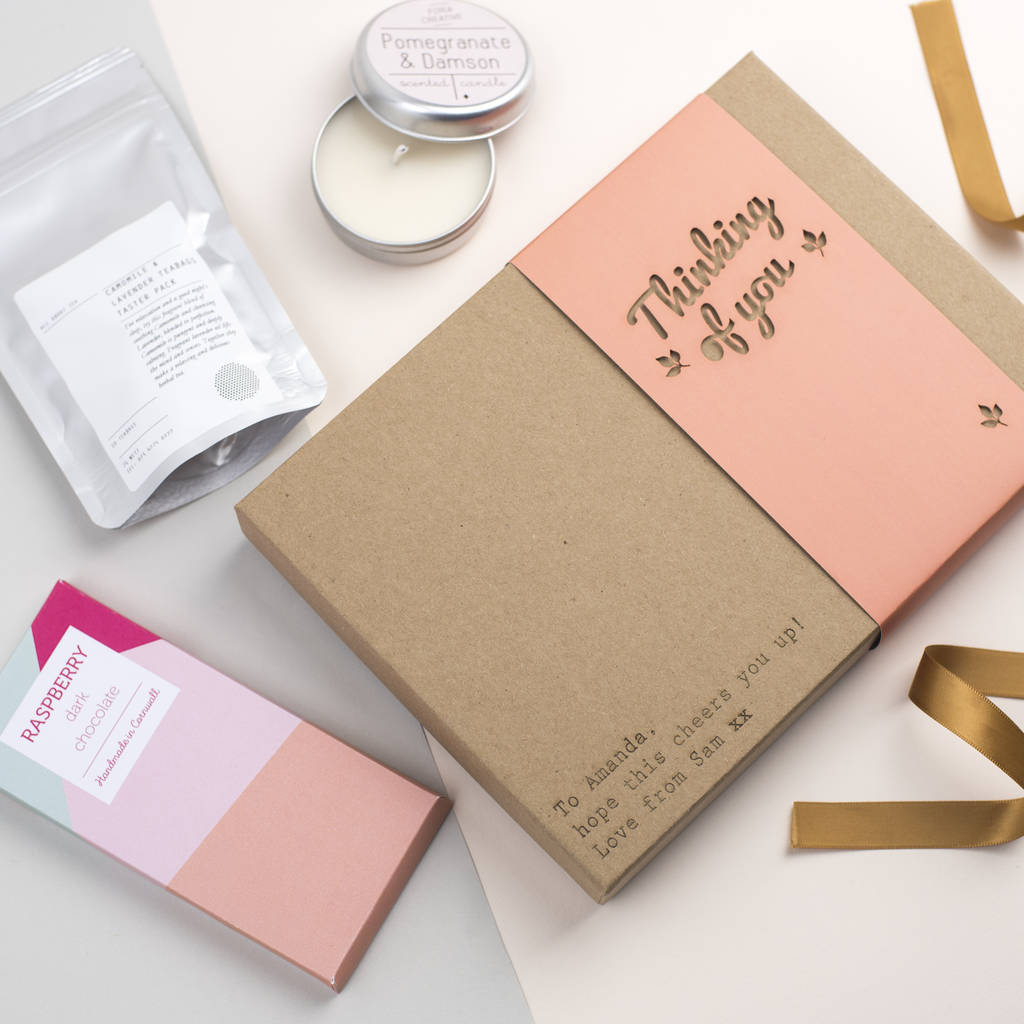 'Thinking Of You' Letterbox Gift Peach