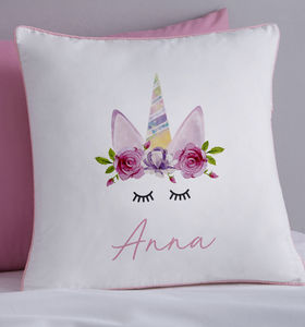Unicorn Personalised Cushion - children's cushions
