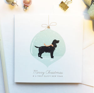 Cocker Spaniel Christmas Card - winter sale