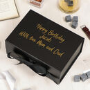 A5 Personalised Black Gift Box With Ribbon