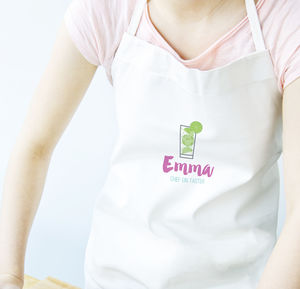 Personalised Chief Gin Taster Apron