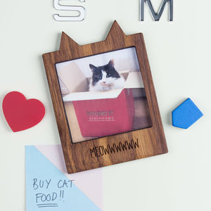 Personalised Cat Magnetic Frame - kitchen