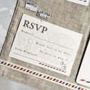 Vintage Travel Wedding Stationery Set