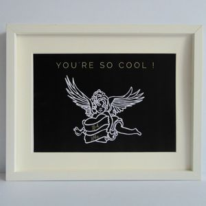 Personalised 'You're So Cool' True Romance Print