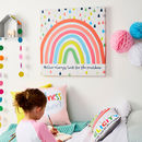 Children's Rainbow Personalised Canvas Print