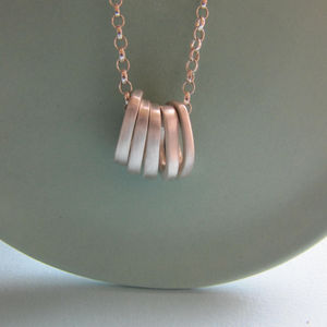 Infinity Five Ovals Stacks Necklace