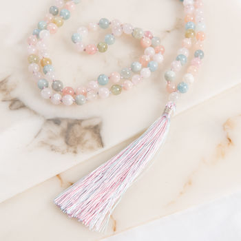 Pink Morganite Mantra Yoga Necklace