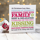 'I Like Christmas' Personalised Card