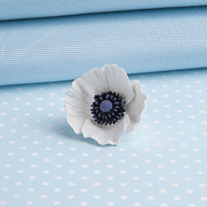 Small White Peace Poppy Brooch - pins & brooches