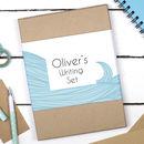 Personalised Sea Waves Writing Set