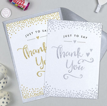 Glitter And Sparkle Thank You Card