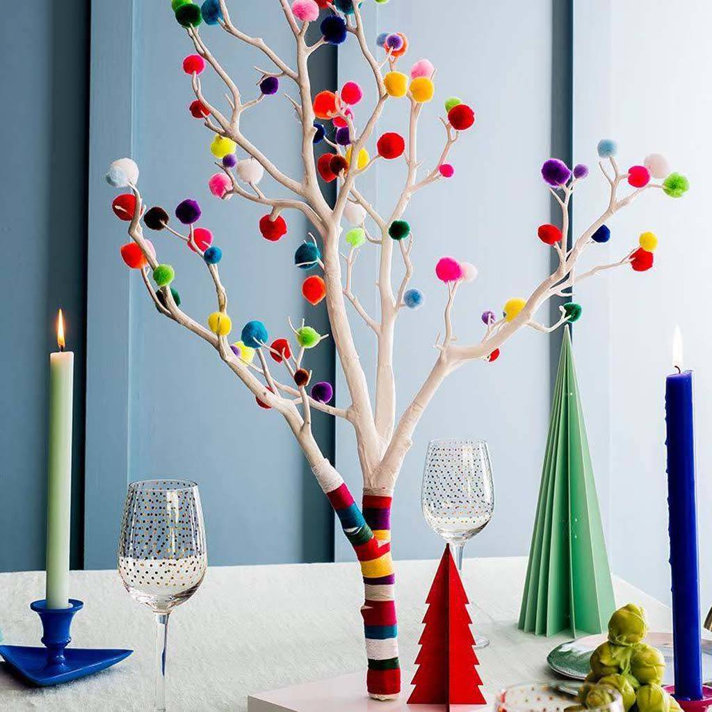 Decorations For A Halloween Party: Pom Pom Christmas Tree By Chi Chi Moi
