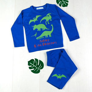 Dinosaur Personalised Pyjamas - clothing