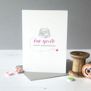 First Anniversary Card Paper - shop by category