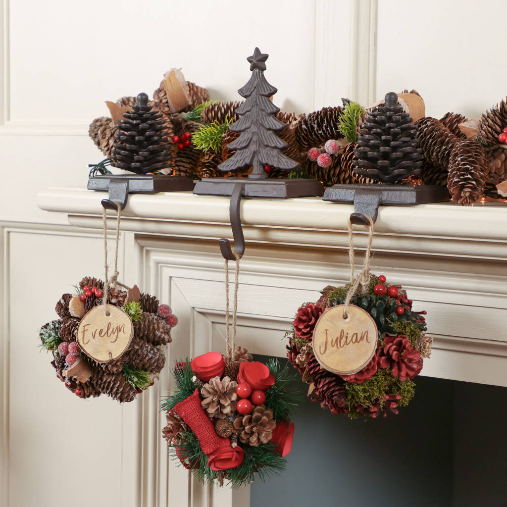 personalised hanging christmas decoration collection