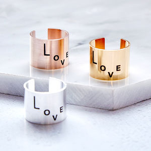 Statement Love Ring - new in jewellery
