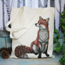 Red Fox Illustration Fairtrade + Organic Tote Bag