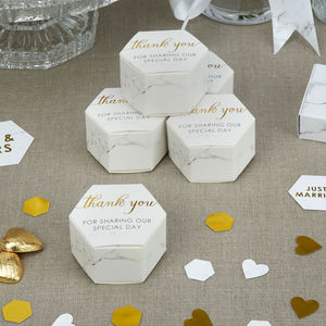 Marble Wedding Favour Box