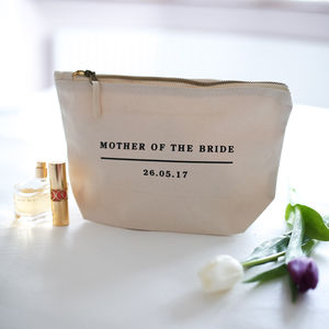 Personalised Mother Of The Bride/Groom Make Up Bag - make-up & wash bags