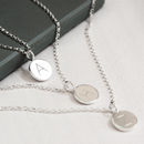 Personalised Sterling Silver Disc Layering Necklace