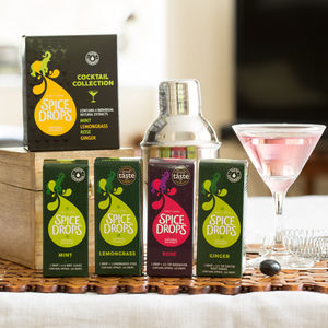 Spice Drops® Cocktail Collection With Recipe Booklet - for cocktail lovers