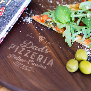 Personalised Craft Pizza Paddle - gifts for him