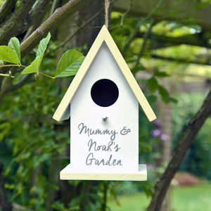 Personalised Bird House - gifts for grandparents