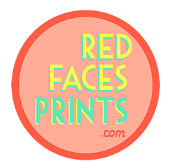 Red Faces Prints logo