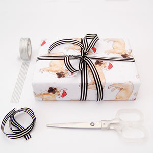French Bulldog Eco Recycled Wrapping Paper